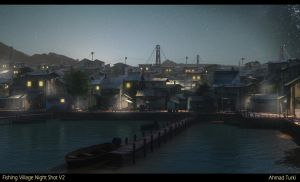 Fishing Village Night V2 by AhmadTurk