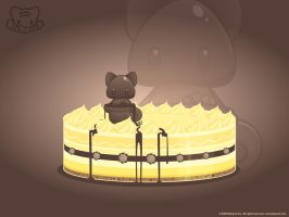Choco Fat Cat Wallpaper by lafhaha