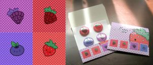 Happy Berries 4 pins set by maina