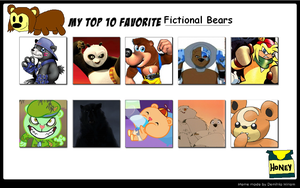 My top 10 bears by Soraply11
