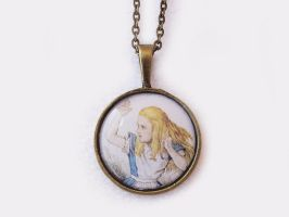 Alice in Wonderland Cameo Necklace by DeadLulu