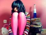Brown Hair and Pink Tights by Patfoodya