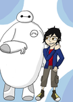 Hiro and Baymax by SapphireSky1992