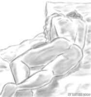 naked Dorian in bed - 1 by esda