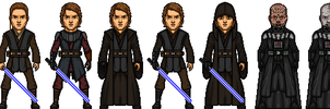 Anakin Skywalker / Darth Vader by MicroManED