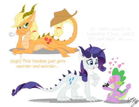 Dragon Ponies Set 3 by Blood-Asp0123