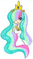 Human Celestia by Pinkprincessadaisy