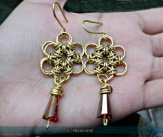 Chainmaille Flower Earrings by mariachughtai