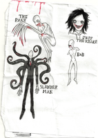 Creepypasta doodles by kathXD123