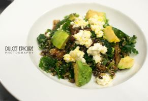 Cous Cous and Wilted Roquette Leaf Salad by DulcetEpicure