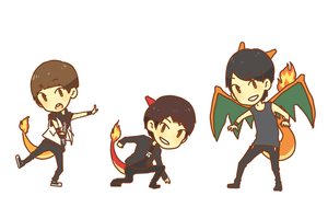 super shinee fx: dino gang by jackettt