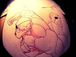 Sketch: Sagat by HughFreeman