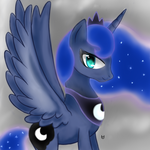 Princess Luna by CartoonOwl