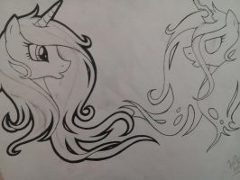 cadence and changeling preview by SocialButter