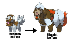 Saint Bernard Fakemon by garbagekeeper