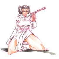 SKETCH Leia whips it out? by jasinmartin
