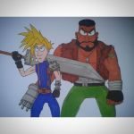 Cloud and Barret from FF7 by johancartoons