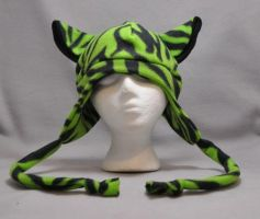Limited Edition Lime Green Punk Cat by wikiwisemandotcom