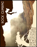 Rock Climbing Poster by ADMIRE-GD