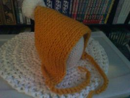 Hand Knit Pixie Hat by CreationsbyJolie