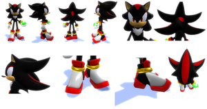 Shadow The hedgehog Reffrence Sheet 3D by DaGmodSpartan