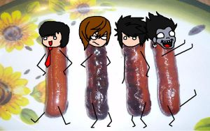 Death note Hotdogs 4 real by jeanetteRyokuX