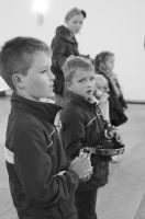 Child line in a church by Pethack