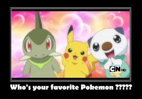 Who's your favorite Pokemon??? by davyjonesentei123