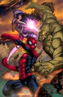 Twilight Sparkle x Spider-Man VS Green Goblin by Jamal2504