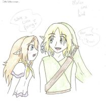 Link meets Malon by SparxPunx