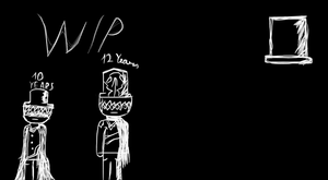 WIP: Mr.Whiten: ''Young To Adult'' by UnicornOfShadows