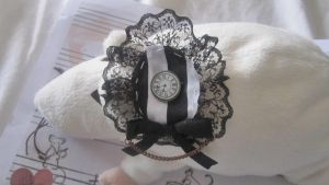 Striped Victorian Brooch by goshusuedo