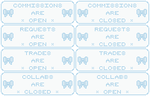 pastel blue art status buttons by minty-chi