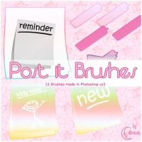 Post-it Brushes by Brenda by Coby17