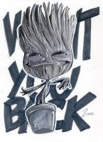 Grey Marker BABY GROOT by dekarogue