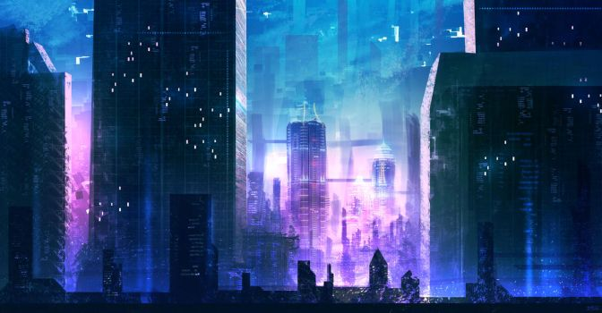 Future City concept sketch by iDaisan