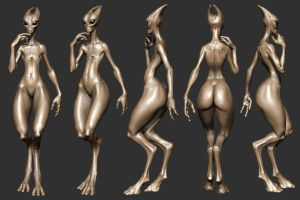 salarian model 2 by slocik