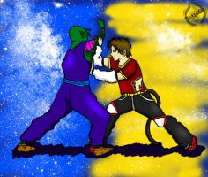 Piccolo and Joey Spar by JoeyTheMostAwesome