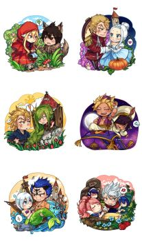 Fairy Tail x Fairy Tales (minor pairings) by blanania