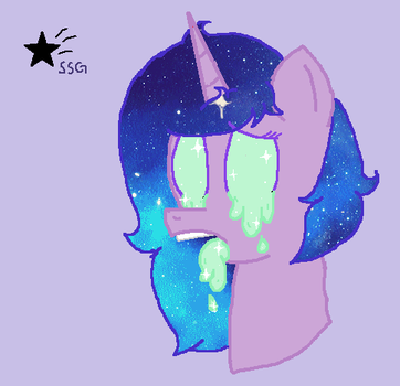 Aura's eyes and mouth are drooling (Finished YCH) by ShimmerStarGirl12