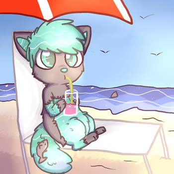 Relaxing By The Beach by SquidPup