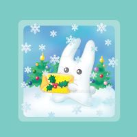 Bunny and Christmas letter by jkBunny
