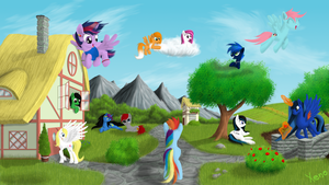 Two world - Brony world by The1Xeno1