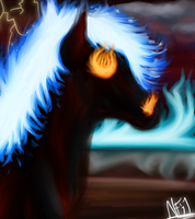 Blue Flames::. by Lucky-Puppy