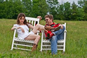 Red neck couple stock 73 by Random-Acts-Stock