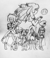 Madoka Magica x Steven Universe WiP by Winged-CatGirl-Kin