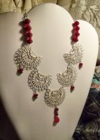 The Red Queen-Necklace by Destinyfall