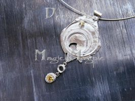 Silver and cz pendant by magickmagpie
