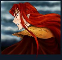 Maedhros in Beleriand by greenapplefreak