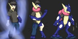 Comission Greninja  TF by Wolfeenix
